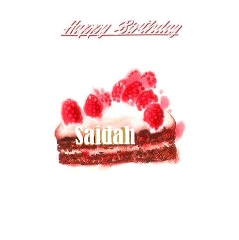 Happy Birthday Cake for Saidah