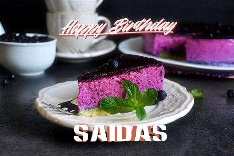 Happy Birthday Wishes for Saidas