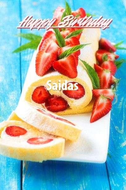 Happy Birthday Cake for Saidas