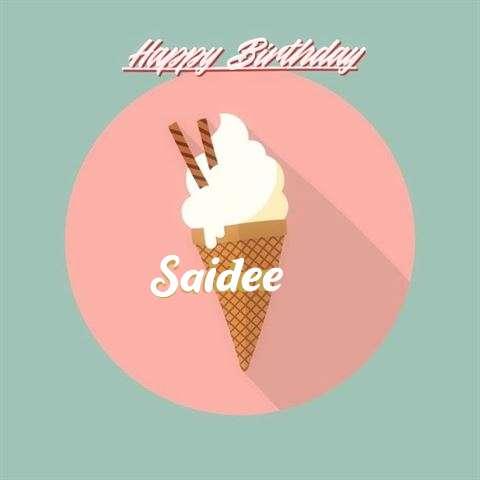 Happy Birthday Saidee Cake Image