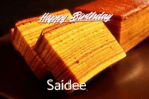 Happy Birthday Wishes for Saidee