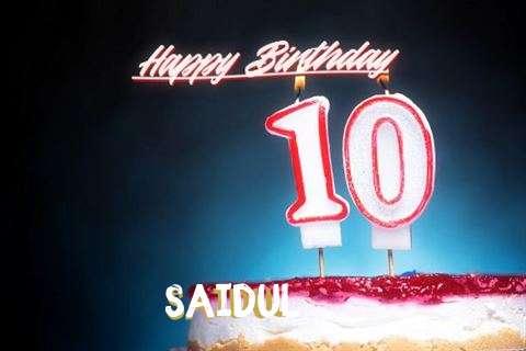 Happy Birthday Cake for Saidul