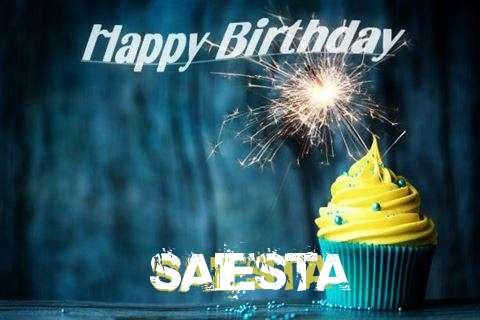 Happy Birthday Saiesta Cake Image