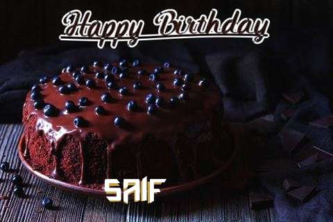 Happy Birthday Cake for Saif