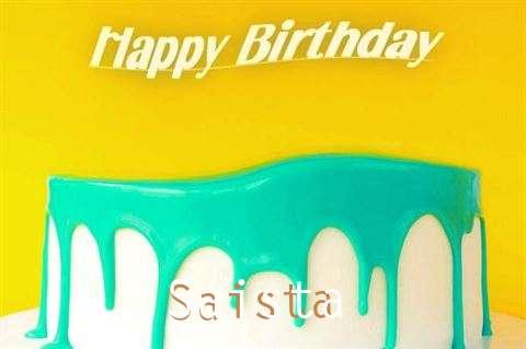 Happy Birthday Saista Cake Image