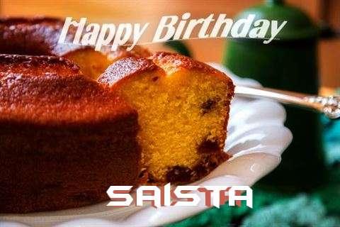 Happy Birthday Wishes for Saista