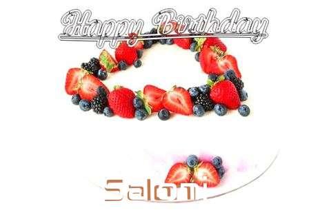 Happy Birthday Cake for Saloni