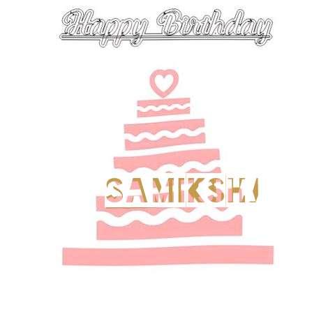 Happy Birthday Samiksha Cake Image
