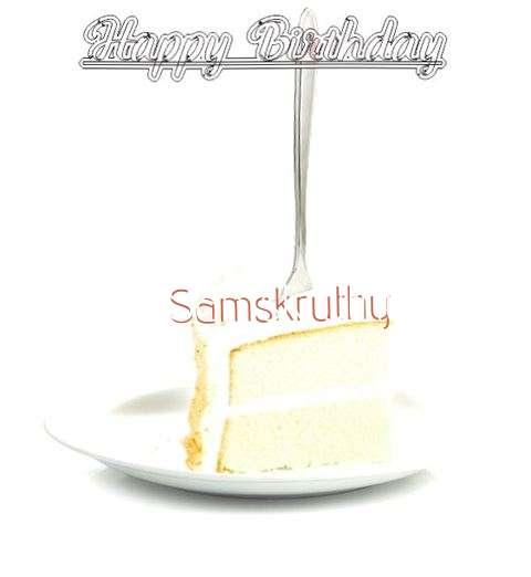 Happy Birthday Wishes for Samskruthy