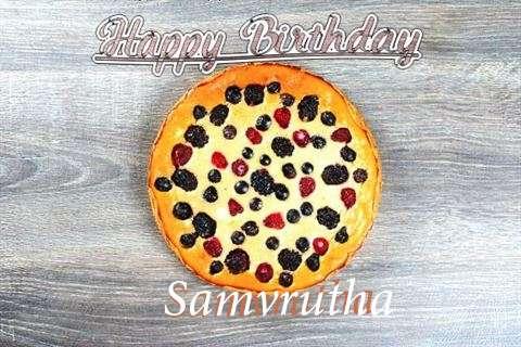 Happy Birthday Cake for Samvrutha