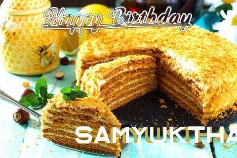 Birthday Wishes with Images of Samyuktha
