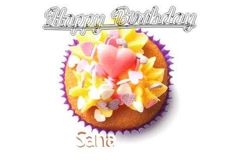 Happy Birthday Sana Cake Image
