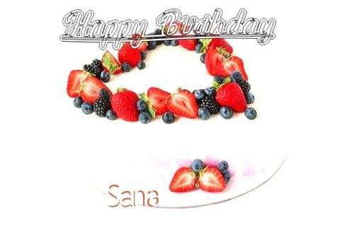 Happy Birthday Cake for Sana