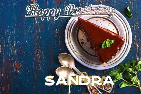 Happy Birthday Sandra Cake Image