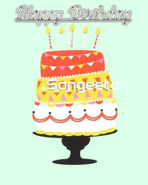 Happy Birthday Sangeeta Cake Image