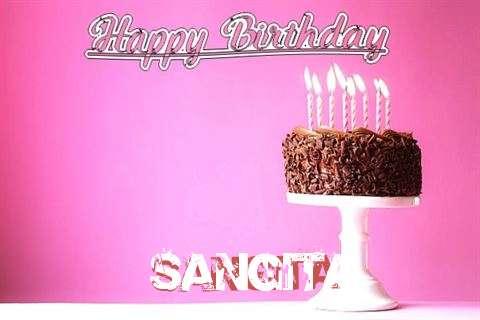Happy Birthday Cake for Sangita