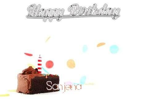Happy Birthday Cake for Sanjana