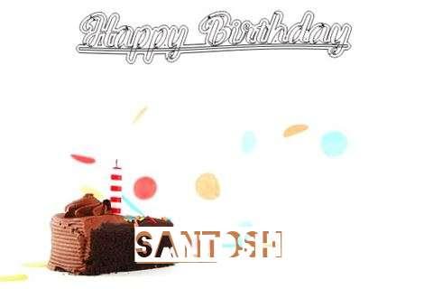 Happy Birthday Cake for Santoshi