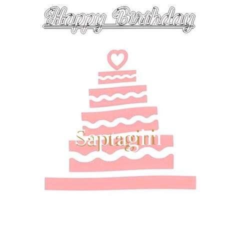 Happy Birthday Saptagiri Cake Image