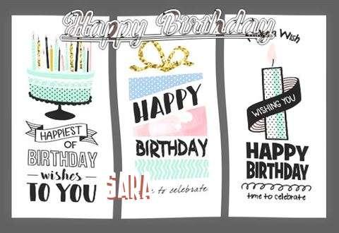 Happy Birthday to You Sara