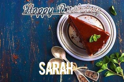 Happy Birthday Sarah Cake Image