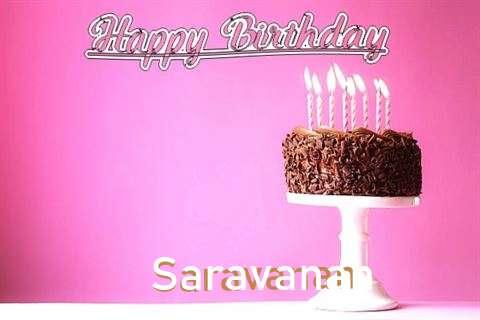Happy Birthday Cake for Saravanan