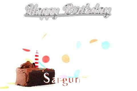 Happy Birthday Cake for Sargun