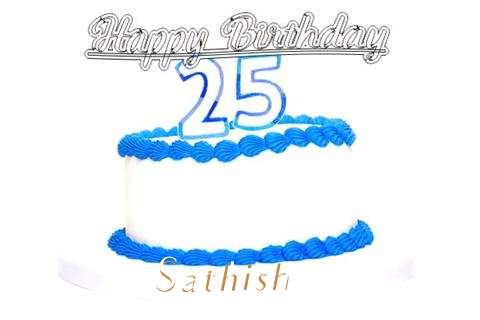 Happy Birthday Sathish Cake Image