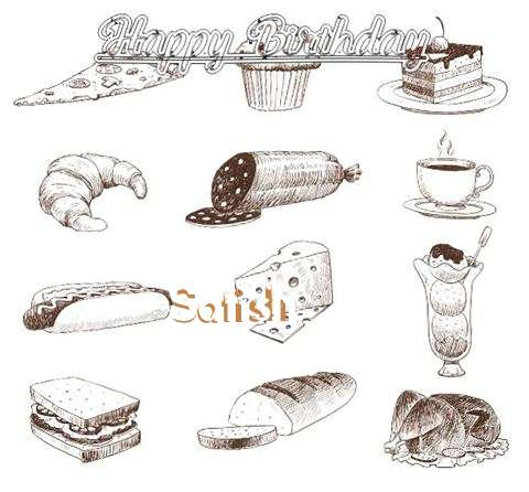Happy Birthday Cake for Satish
