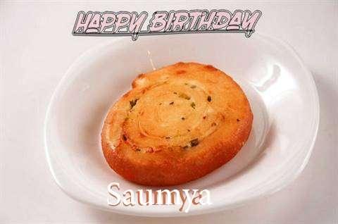 Happy Birthday Cake for Saumya