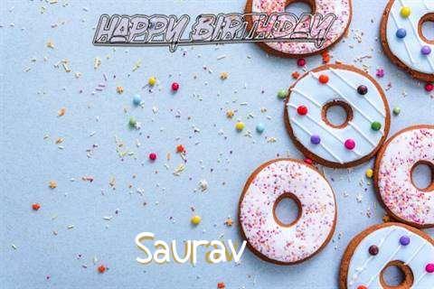 Happy Birthday Saurav Cake Image