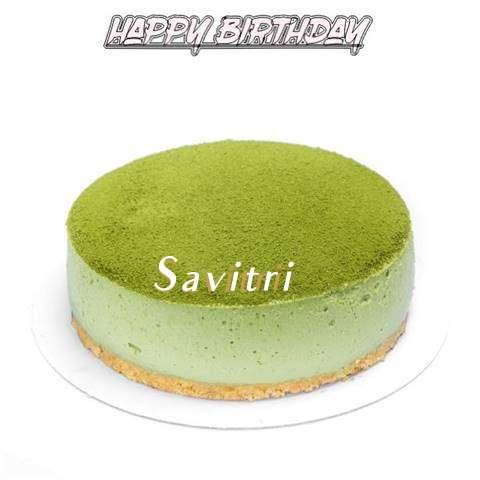 Happy Birthday Cake for Savitri