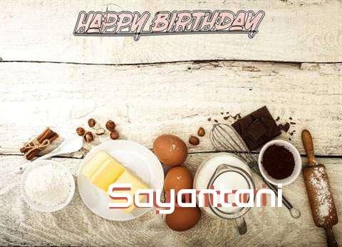 Happy Birthday Sayantani Cake Image