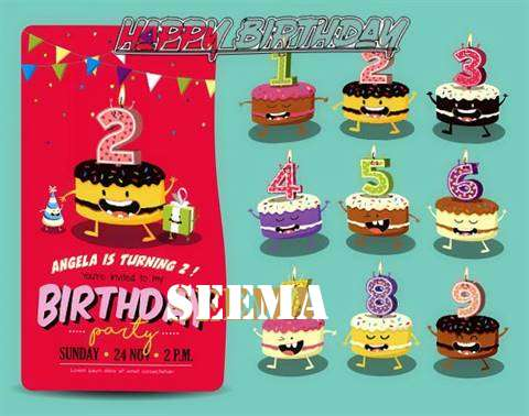 Happy Birthday Seema Cake Image