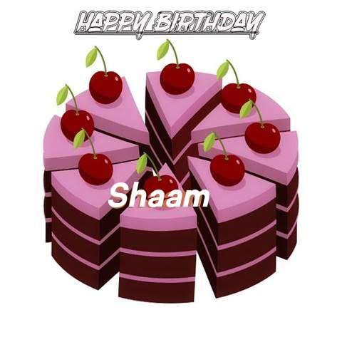 Happy Birthday Cake for Shaam