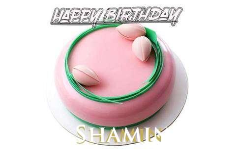 Happy Birthday Cake for Shamin