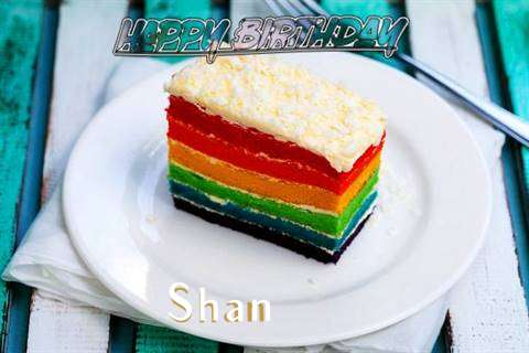 Happy Birthday Shan Cake Image