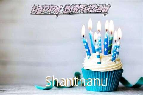 Happy Birthday Shanthanu Cake Image
