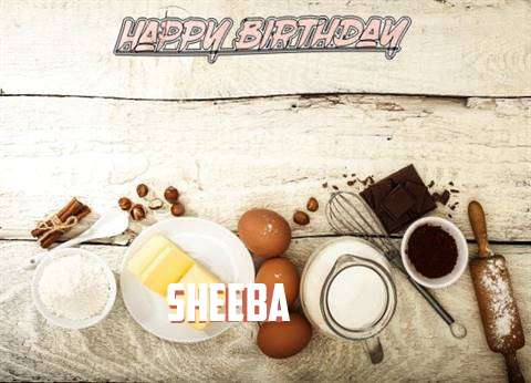 Happy Birthday Sheeba Cake Image