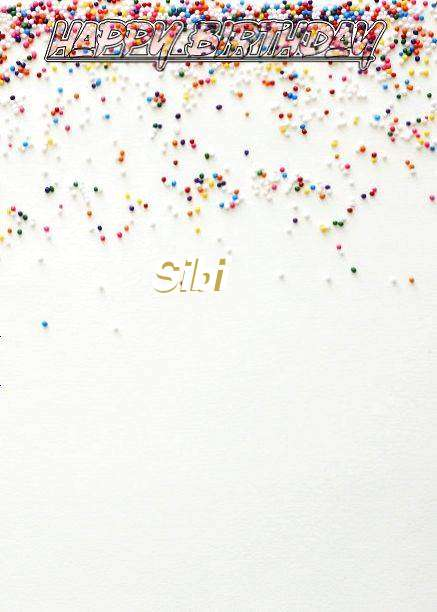 Happy Birthday Sibi