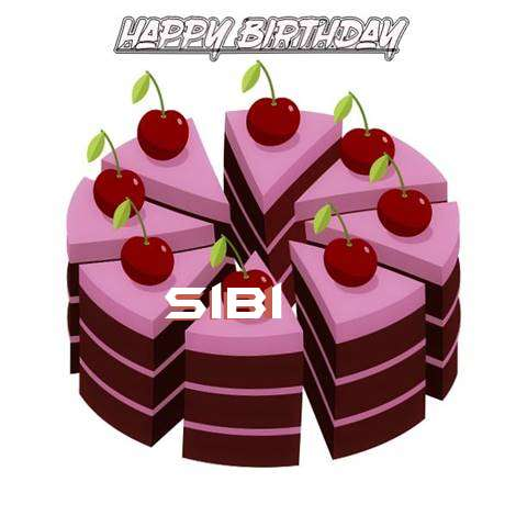Happy Birthday Cake for Sibi