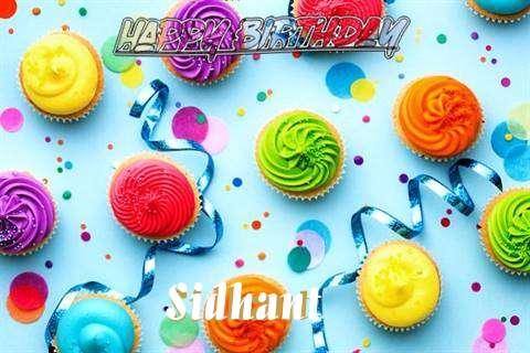 Happy Birthday Cake for Sidhant