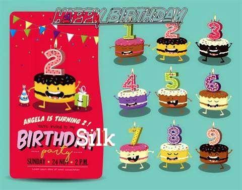 Happy Birthday Silk Cake Image