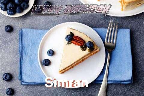 Happy Birthday Simran Cake Image