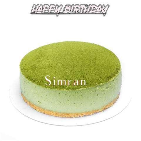 Happy Birthday Cake for Simran