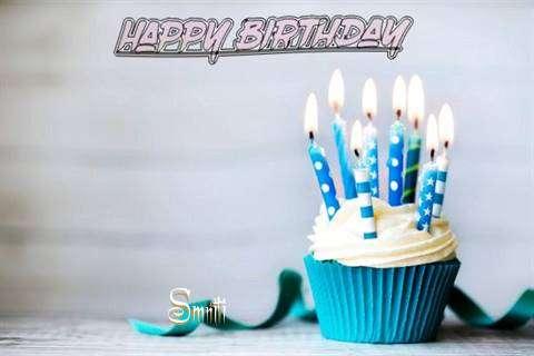 Happy Birthday Smriti Cake Image