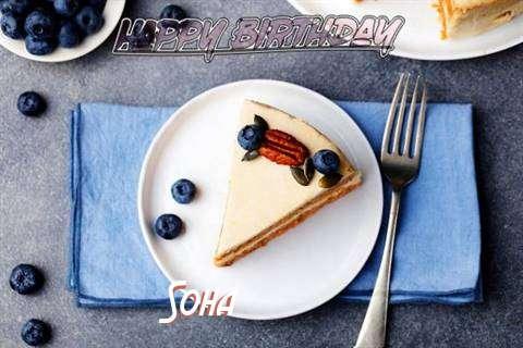 Happy Birthday Soha Cake Image
