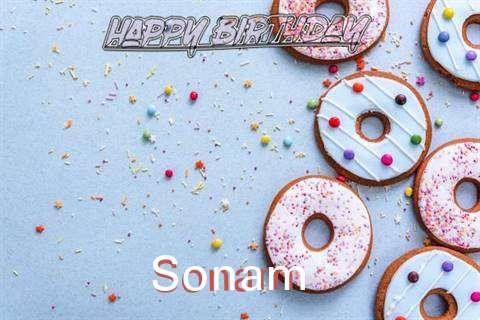 Happy Birthday Sonam Cake Image