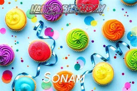 Happy Birthday Cake for Sonam
