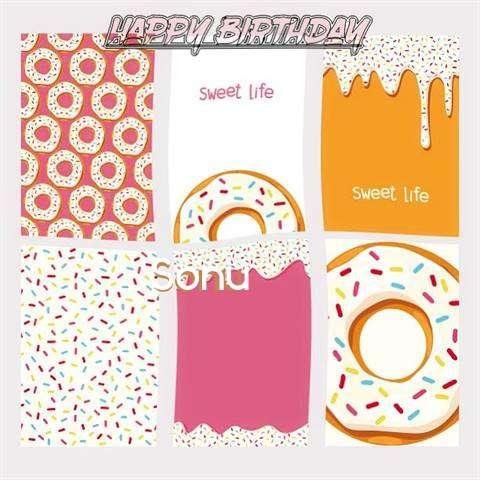 Happy Birthday Cake for Sonu
